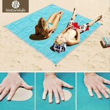 Naturelife Sand Free Beach Mat Portable Blue beach mat Anti-slip Sand Ma... - $212,36 MXN