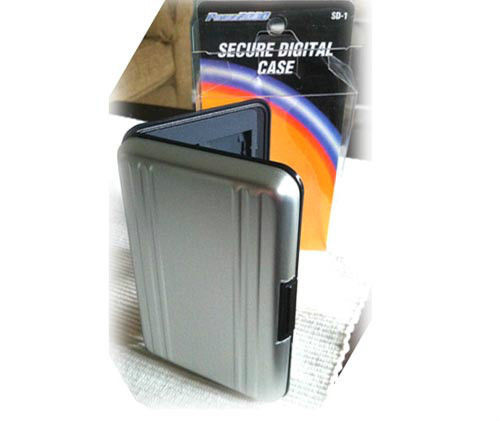 Aluminum Case Wallet for 8 SDHC SD Secure Digital Memory Card