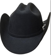 Bullhide 8X Montecarlo Collection Fur Blend Cowboy Hat EL CANTAUTOR Black - $90.00