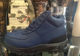 Nike Air Max Men's Size 7  ACG Leather Boot Navy Blue  - $115.99