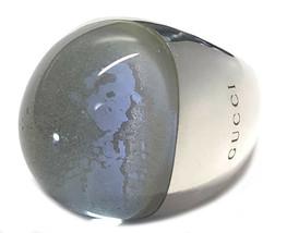 Gucci Silver Ring Ring SV925 Logo Stone 13 Ladies GUCCI Accessories Dome... - $439.20