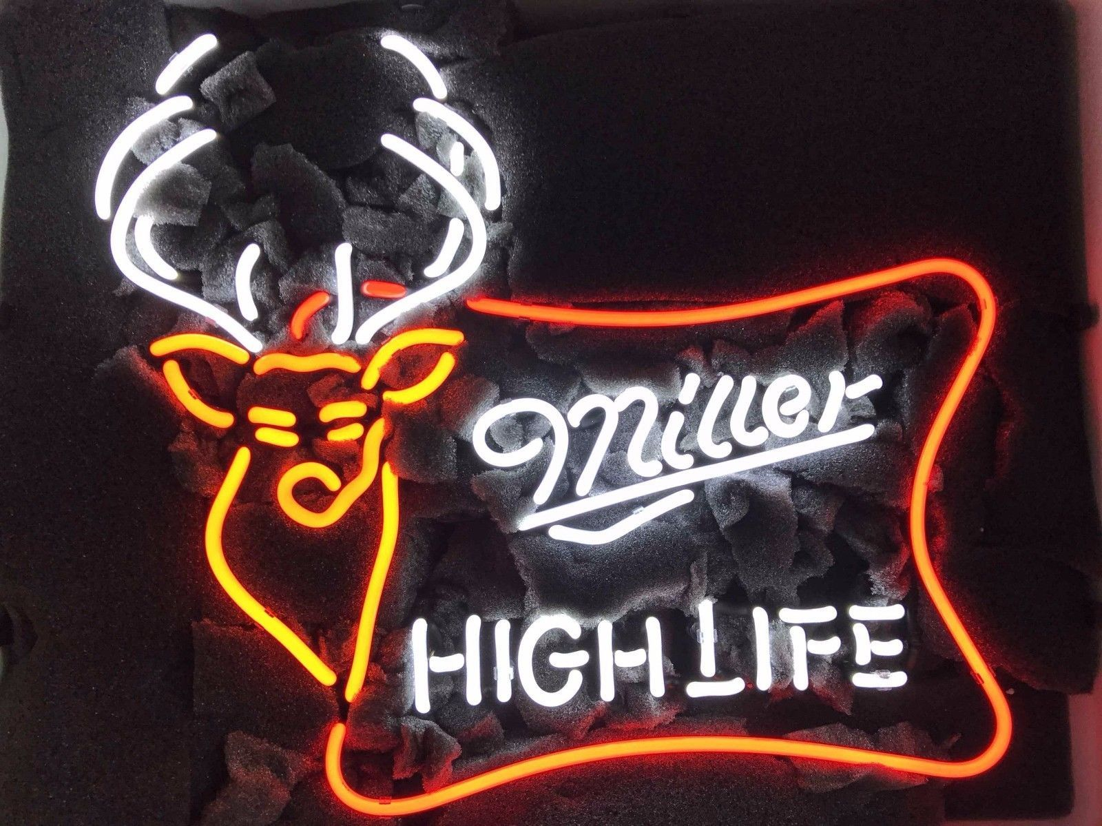 "Miller Lite High Life deer Beer Lager Handmade Neon Light Sign 24""x20"""