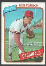 St Louis Cardinals Bob Forsch 1980 Topps Baseball Card 535 nr mt - $0.50