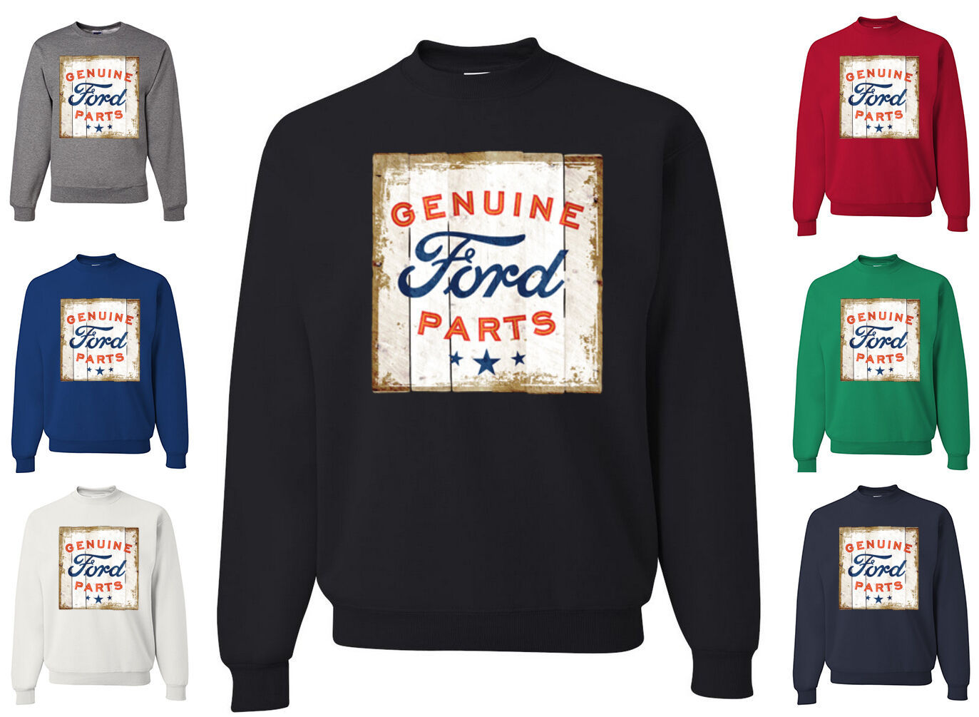 Primary image for Genuine Ford Parts Licensed Sweatshirt Retro American Classic Built Ford Tough