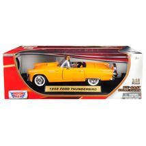 1956 Ford Thunderbird Convertible Orange 1/18 Diecast Model Car by Motor... - $52.64