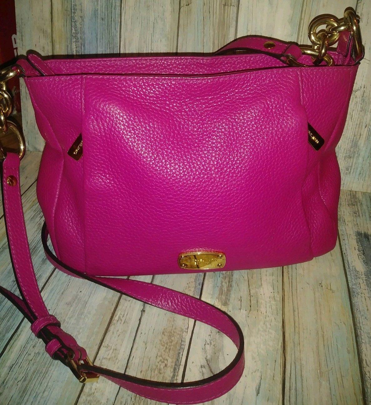 4556d99bb466d1 ... store michael kors hallie md messenger leather crossbody purse pink  lipstick bag 248 f1700 cb0a0 ...