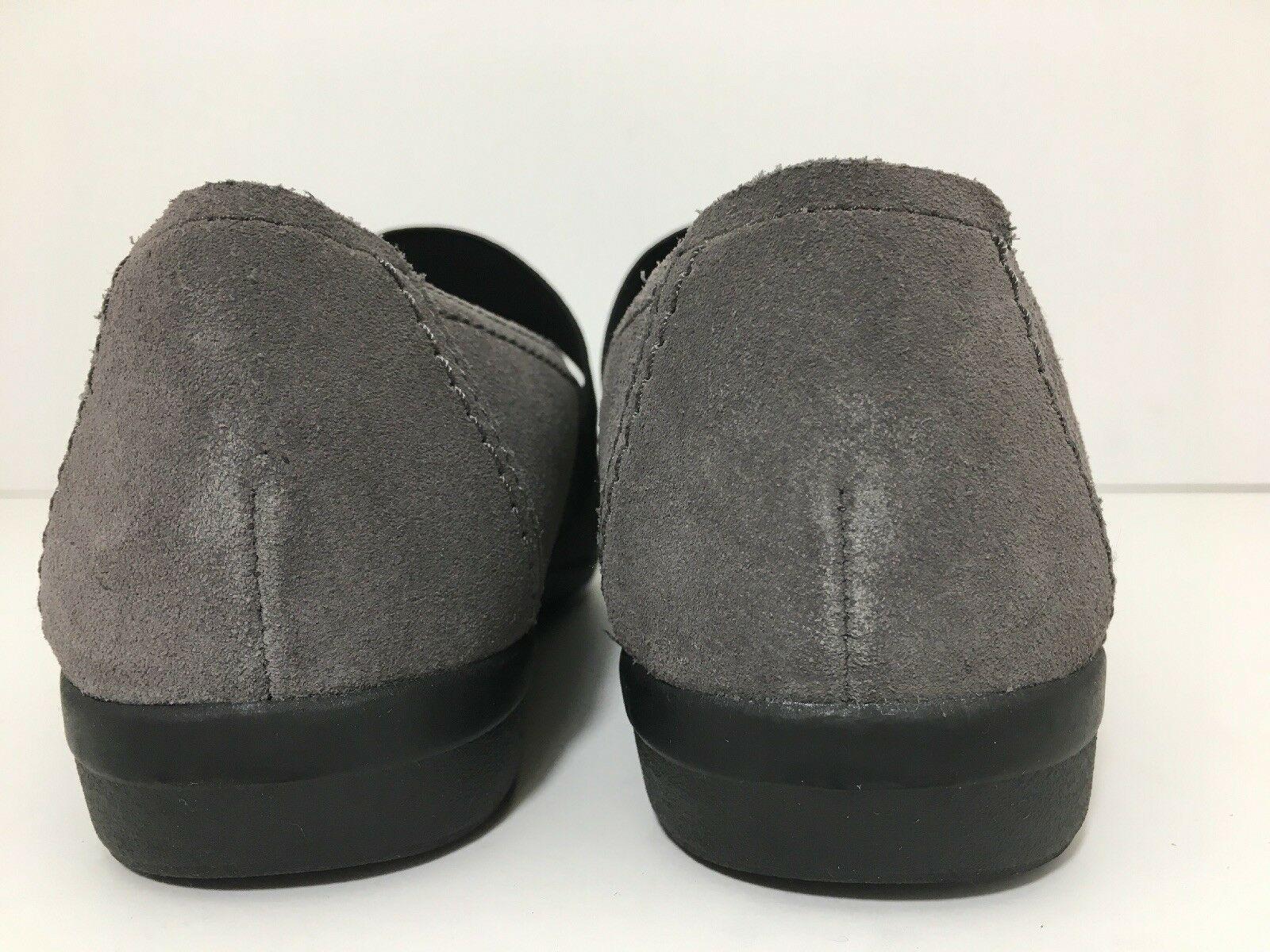 Clarks Haydin Women's Flats Comfort Loafers Shoes Juniper Grey Suede US 7 D Wide