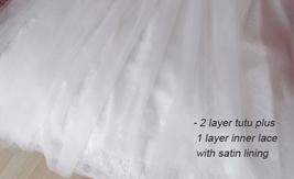 White Lace Tulle Maxi Skirt White Bridal Tulle Skirt A Line Tulle Wedding Skirt image 6
