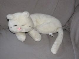 "RUSS KARA CAT STUFFED PLUSH WHITE 10.5"" CURLED UP SLEEPING - $49.49"