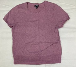Lands End Short Sleeve Supima Cotton Jewel Neck Sweater Womens XL Light ... - $24.75