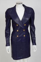 NWOT North Beach Leather Purple Military Dress sz XS US 4 - $245.00
