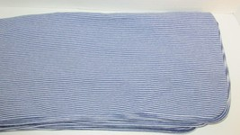 Carters cotton knit baby receiving blanket navy blue white stripes stretchy - $12.93 CAD