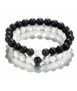 Natural Stone Distance Bracelets Classic (1), Fashion Round Charm Pendan... - $12.89
