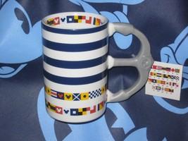 DISNEY PARKS MICKEY FLAGS / MICKEY HEAD COFFEE CUP MUG. NEW. - $24.20