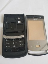 Lg Kf575 front fascia and back cover housing with keypad in black - $9.00