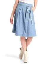 Gap Chambray denim high-rise midi skirt, size 32, NWT - $59.95