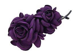 Simple Flowerr Twist Clip Banana Clip Vertical Hairpin Hair Ornaments,Purple