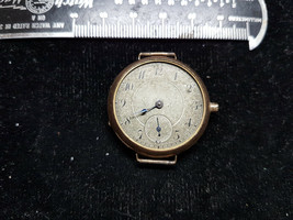 T. EATON ANTIQUE GOLD FILLED 17 JEWEL TRENCH WATCH FOR RESTORATION OR PARTS - $217.69