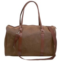 "Fashionable Brown Faux Leather  21"" Travel Bag With Adjustable Detachabl... - $838,40 MXN"