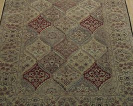 5x7 Multi-Color Oushak Wool Handmade Checked All-Over Transitional Area Rug image 9