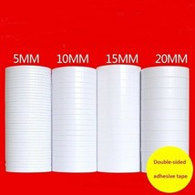 Aikeen® Cheap Double-Sided Adhesive Tape 12M Long 5mm 10mm 15mm 20mm 30m... - $22.28