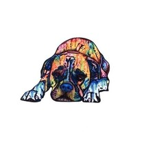 "1-5/8"" x 2-3/8"" Colorful Acrylic BOXER DOG Brooch Pin - $4.94"