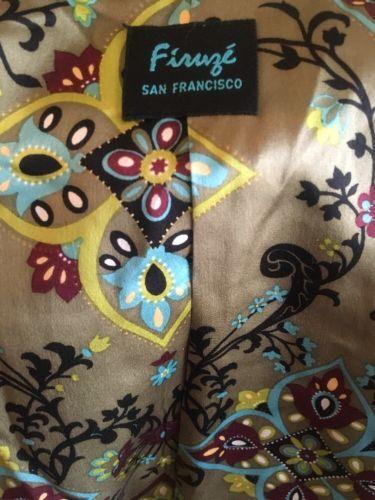 Firuze San Francisco Black Wool Blend Peacoat Jacket Size 8 Made In USA