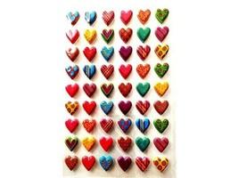 Puffy Hearts Sticker Set, 54 Pieces