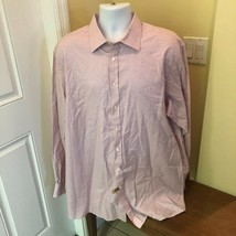 Thomas Pink Mens Button Down Shirt Pink Checked 18-37 46/94 cm  - $27.71