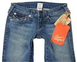 True Religion Women's Denim Jeans Joey Leather Pocket 83 - Med Savana 10503VNL image 3