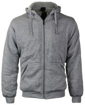 Maximos Men's Athletic Soft Sherpa Lined Fleece Zip Up Hoodie Sweater Jacket image 10