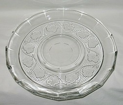 Anchor Hocking Avalon Pattern Clear Chip & Dip Platter Only - $9.85
