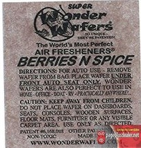 16- Wonder Wafers BERRIES N SPICE~ Scent~Amazingly Fresh~ Air Freshener - $7.69