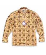 Vintage Deadstock 1970's Disco Button Shirt Size M Burma Cassini Long Sl... - $44.99