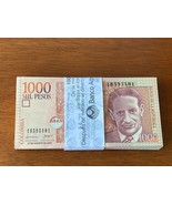 100 Bundle Colombia 1000 Mil Pesos 2008 Consecutive & Uncirculated Banknote Pack - $593.01