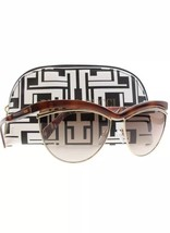 Emilio Pucci 61mm Cat Eye Sunglasses Havana Gold Pink Made In Italy New ... - $121.55