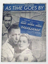 "Vtg Sheet Music ~ AS TIME GOES BY from ""CASABLANCA"" BOGART & BERGMAN Cov... - $9.99"