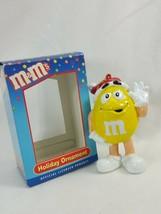 M&Ms Christmas Holiday Ornament Kurt S. Adler Yellow with Santa Hat   ZE18 - $4.69