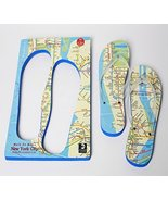 Walk On Map NYC Flip Flops Extra Large (11-12.5) - $30.00