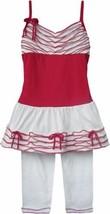 Isobella & Chloe Girls Red White Size 4T Tunic & Leggings Sleeveless Out... - $23.50