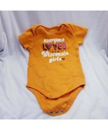 """Baby Girl Body Suit 3 6 mo """"Everyone Loves Wisconsin Girls"""" - $6.23"""