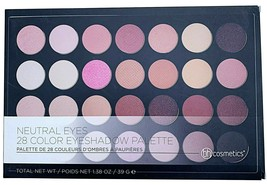 New BH Cosmetics 26 Blushed Neutral Color Eye Shadow & Blush Makeup Palette NIB