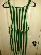 ZARA Girls Striped Summer Dress White And Green  Size 11/12 - $25.94