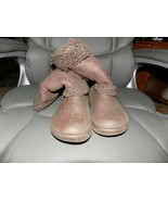 Crocs Nadia Brown Shearling Style Fuzzy Boots Brown Convertible Size 7 W... - $40.00
