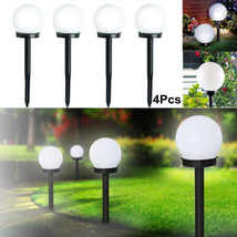 4 Pcs LED Ground Garden Light Solar Round Ball Automatic Waterproof Outd... - €53,93 EUR