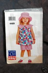 Primary image for Butterick Children's Top, Shorts And Hat