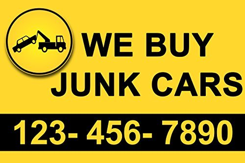 We Buy Junk Cars Banner Sign 3 x 2 Ft