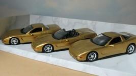 Corvette Millennium Promo Pack  Revell 3-Pack  2000 Dealer Gold Model 1:25   BIN - $26.68