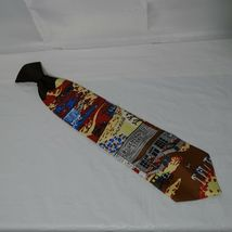 Vintage Sears Snapper Clip-on Tie Necktie Mens Multi-color General Store Novelty image 3