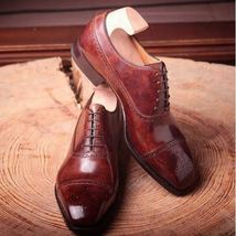 New Handmade Men's leather shoes, oxford shoes, formal shoes, Men's Office shoes - $144.99+